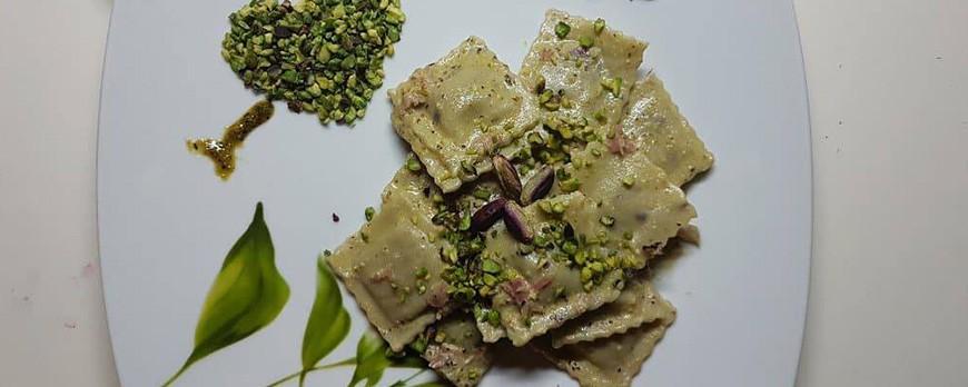 Ravioli al pistacchio