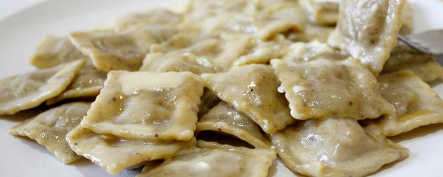 Ravioli al Pistacchio di Bronte in crema di formaggio